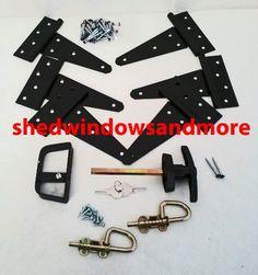 Shed Door Hardware Kit Hinges, T-Handle, Barrel Bolts Shed Windows, Shed Doors, Shed Door Hardware, T Hinges, Shed Makeover, Barrel, Handle, Kit, Amazon