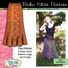 MAXI SKIRT PATTERN - #303 Ginger Boho Skirt Pattern