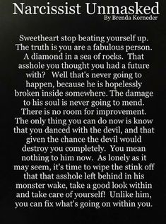 ... never the same again Narcissistic People, Narcissistic Abuse Recovery, Narcissistic Behavior, Narcissistic Sociopath, Narcissistic Personality Disorder, Narcissistic Men Relationships, Narcissistic Boyfriend, Abusive Relationship, Toxic Relationships