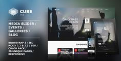 Club Cube - responsive MODX theme for night club. Website template for night club