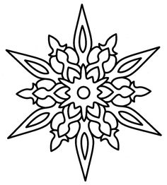 Free Printable Snowflake Coloring Pages | Pinterest | Color sheets ...