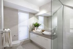 Morcraft Homes - Bathroom Ideas Local Builders, Custom Home Builders, Custom Homes, Bathroom Cabinetry, Building A New Home, Cabinet Makers, Big Houses, New Builds, House Colors
