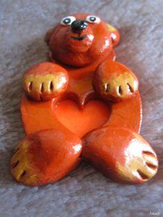 Mały Miś 7cm Materiał glina Carrots, Stuffed Peppers, Carrot, Paleo Stuffed Peppers, Stuffed Pepper