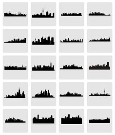 City Skylines of places lived or visited as art for your interior decorating design ideas Class Projects, Art Projects, City Drawing, Source Of Inspiration, Coastal Style, City Skylines, Easy Drawings, Photo Art, Cricut