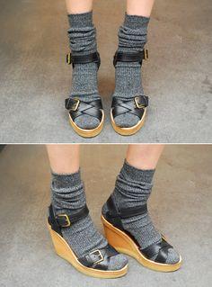 Socks and Marant sandals.
