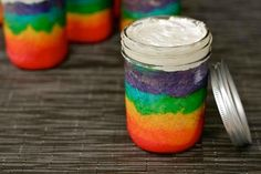 Yep you can make just about anything in an @balljar! Rainbow Cake in a Jar with homemade Buttercream! #Delish!