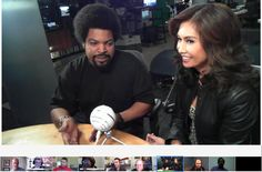 Yes Ice Cube hanging out via Google+ Hangouts On Air at the My FOX LA studies with host Maria Quiban & @Shaka Armstrong