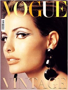 elsa benitez on the cover of the italian vogue the vintage issue.