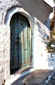 White & green Door - Berta, Berat, Albania
