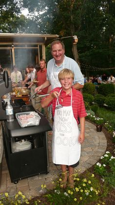 """""""You May Now Kiss The Cook"""" apron gift for a backyard wedding @Sherry @ Young House Love Love It!"""