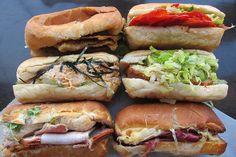 10. Al Pastor Torta at King Torta  9. Banh Mi at The Spice Table  8. The Godmother at Bay Cities Deli  7. French Dip at Philippe the Original  6. BLT at Kokomo  5. Pork Meatball Sub at Fundamental L.A.  4. Short Rib Melt at Joan's on Third  3. #19 at Langer's Delicatessen  2. Porcetto at Sotto  1. Toron at Baco Mercat  Others: Cuban at Tropical Bakery, Tongue sandwich at Attari, The Godfather at All About The Bread, Bear Pit Special sandwich at the Bear Pit, pork belly sandwich at Forage