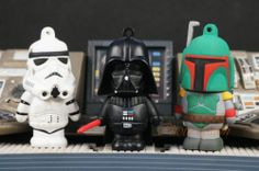 Star Wars Figure Cake Topper Vader Boba Fett Stormtrooper