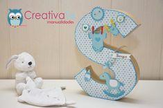 Letra decorada para bebé