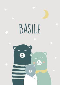 faire-part naissance original et affiche ours