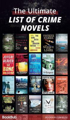 The Top 100 Crime Novels of All Time These crime novels will have you on the edge of your seat! The Top 100 Crime Novels of All Time Best Books To Read, I Love Books, My Books, Song Books, Great Books, Book Suggestions, Book Recommendations, Book Club Books, Book Lists