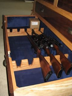 Wall gun rack plans woodworking projects plans more for How to build a gun room