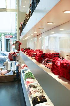 Scarves in the Alprausch store in Zurich Zurich, Scarves, Formal Dresses, Store, Red, Fashion, Scarfs, Dresses For Formal, Moda