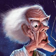 Christopher Lloyd by Anthony Geoffroy Cartoon Faces, Funny Faces, Cartoon Art, Cartoon Characters, Caricature Artist, Caricature Drawing, Funny Caricatures, Celebrity Caricatures, Cinema Tv