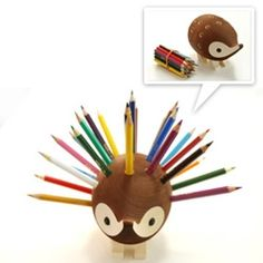 Hedgehog pencil holder....Yes. I NEED this. I do though....I really need it. Need it, not want...NEED.