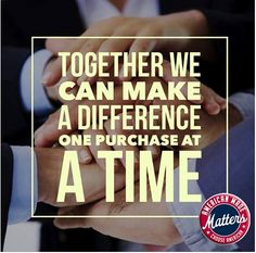 American Made Matters #Share4America: Are you in? Together we can make a difference. One purchase at a time. Make the choice to #BuyAmerican #MadeinUSA #AMMday Check the tags or look for the #AmericanMadeMatters logo.  Visit us: http://www.americanmadematters.com/index.php