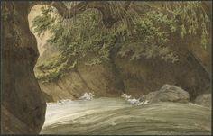 Eugène Viollet-le-Duc, le gave de Cauterets au dessus de Pierrefitte, 12 juillet 1833 Lavis, gouache Ministère de la Culture (France), Médiathèque de l'architecture et du patrimoine, dist. RMN