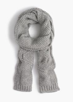 j.crew italian wool cable scarf