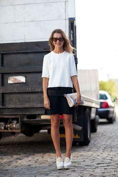 Black n' WHite - Street Style Fashion Week NYC