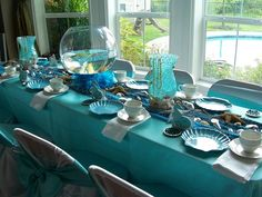 Could not have a little mermaid party without the candleabra with ...