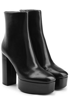 Check out the Alexander Wang Leather Platform Ankle Boots. Beautiful platforms & wedges by the designer Alexander Wang available in Black. Look stylish with these platforms & wedges made by the designer Alexander Wang. Black Platform Boots, Black Heel Boots, Black Ankle Booties, Black High Heels, Black Leather Boots, High Heel Boots, Heeled Boots, Leather Booties, Ankle Shoes