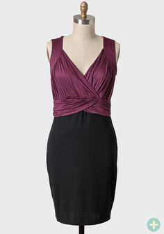 Enchanted Evening Curvy Plus Dress In Wine 36.99 at shopruche.com. This elegant black and wine-hued dress features a gathered surplice neckline, a ruched waist, and lots of stretch for a flattering fit. Finished with a sleek skirt, this dress looks great with simple jewelry and a pair of black...