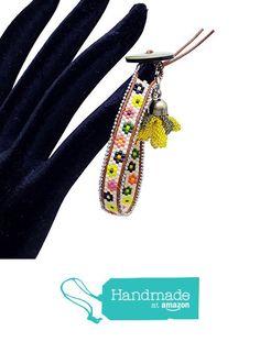 Walentine's day wrap delica beads beadwoven beaded peyote bracelet BR1131 from… #handmadeatamazon #nazodesign