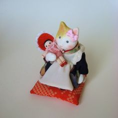 縮緬福猫 お人形 その六