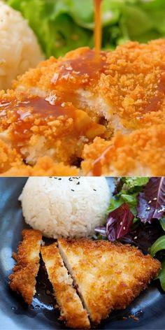 Chicken Katsu Recipes, Yummy Chicken Recipes, Resep Chicken Katsu, Katsu Sauce Recipe, Yummy Food, Chicken Katsu Curry, Asian Recipes, Mexican Food Recipes, Recipes