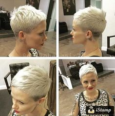 Who wants to see Really Cool Asymmetrical Pixie Cut Pics that we've collected? In our gallery you will find the latest pixie haircut ideas to make you look. Short Pixie Haircuts, Cute Hairstyles For Short Hair, Pixie Hairstyles, Curly Hair Styles, Hairstyles 2018, Easy Hairstyles, Pixie Cut Styles, Short Styles, Very Short Hair