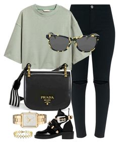 """""""Everyday Look"""" by jomashop ❤ liked on Polyvore featuring Prada, Oakley, Balenciaga, Versace 19•69, Michael Kors and black"""