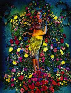 Viva la Vida: Agnes Sokolowska as Frida Kahlo by Sandrine Dulermo and Michael Labica for Amica May 2013
