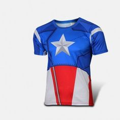 Captain America Outdoors Sports Short Sleeve T-shirt
