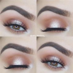 Makeup Revolution Eye Glisten onto How To Do Natural Brown Eye Makeup  #Brown, #eyemakeupbrown #HowToDoEyeshadow Shimmer Eye Makeup, Blue Eye Makeup, Eye Makeup Tips, Makeup Hacks, Makeup Inspo, Makeup Ideas, Makeup Products, Makeup Trends, Easy Makeup