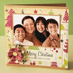 Christmas Card, scrapbooking