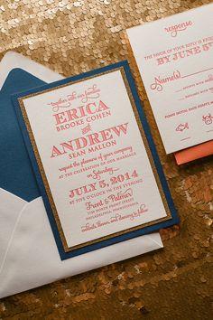 KRISTIN Suite Fancy Glitter Package. Gold Glitter WeddingGlitter Wedding  InvitationsWedding CoralLetterpress ...