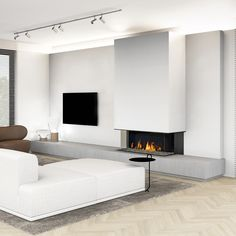 Architecture,Interior Design,Visual Effects Living Room Decor Fireplace, Living Room Tv Unit, Home Fireplace, Modern Fireplace, Home Living Room, Living Room Designs, Fireplace Surrounds, Living Room Modern, Contemporary Fireplace Designs