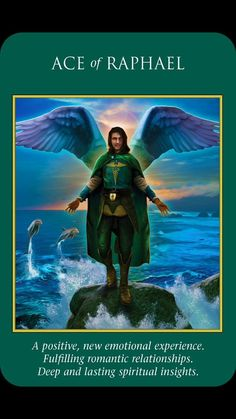 Ace of Raphael card from Archangel Power Tarot Cards by Doreen Virtue and Radleigh Valentine Doreen Virtue, Angel Guidance, Spiritual Guidance, Spiritual Wisdom, Spiritual Awakening, Archangel Raphael, Oracle Tarot, Blessed Mother Mary, Black Angels