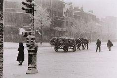 Rene-Jacques (René Giton): Boulevard Berthier sous la neige, Paris, 1941.