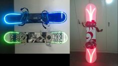 Snowboard LED Light Kits. Stay visible AND fashionable on the slopes. Wanna go snowboarding before spring is officially here!