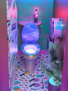 Times We Had To Question Peoples Really Crappy Interior Design Choices - Joyenergizer Neon Aesthetic, Aesthetic Room Decor, Girl Bedroom Designs, Room Ideas Bedroom, Yoga Studio Design, Neon Room, Deco Design, Retro Futurism, Dream Rooms