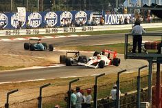 Oops! Senna famously crashed out of the Italian Grand Prix in 1988, stopping Mclaren from winning all 16 Grand Prix. Gerhard Berger inherited the victory for The Scuderia mere weeks after the death of Enzo Ferrari.