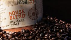 Sip House Blend! ROAST: Medium-Dark FLAVOR: Smooth, Silky Body, Hint of Smokiness ORIGINS: Central & South America  Crafted from the finest Central and South American coffees and roasted to a caramel color, then blended with a splash of our sparkling French Roast, this blend brings you all the comforts of home: warm and cozy. Curl up with a cup of this medium-dark roast and enjoy being wrapped in its velvety, full-richness.