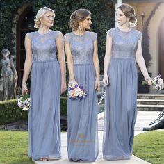 lindadress.com Offers High Quality Light Blue Bridesmaid Dresses With Straps And…