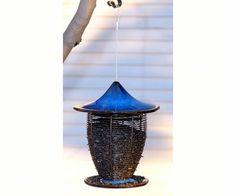 Pagoda Bird Feeder Cobalt Blue - JacobsOutdoor