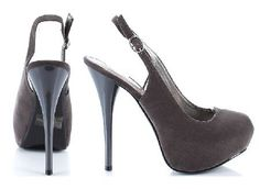 Qupid Shoes Neutral-86 Grey Distinguished charcoal suede shoes with round toe, front hidden platform complemented by the dramatic 5 inch (12.5 cm) high stiletto heels. The thin back strap features adjustable length and side clos http://www.MightGet.com/january-2017-12/qupid-shoes-neutral-86-grey.asp